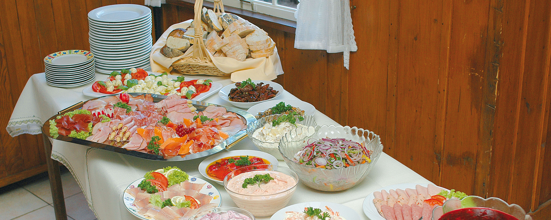 Waldcafe, Teuchelwald, Freudenstadt, Buffet, Speisen